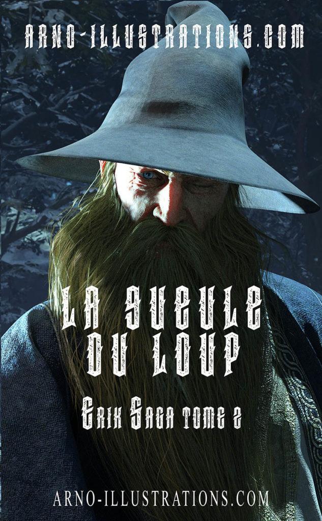 illustration couverture livre magicien