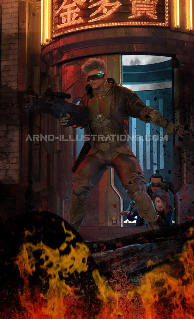 killing business Arno-illustrations page d'accueil portfolio