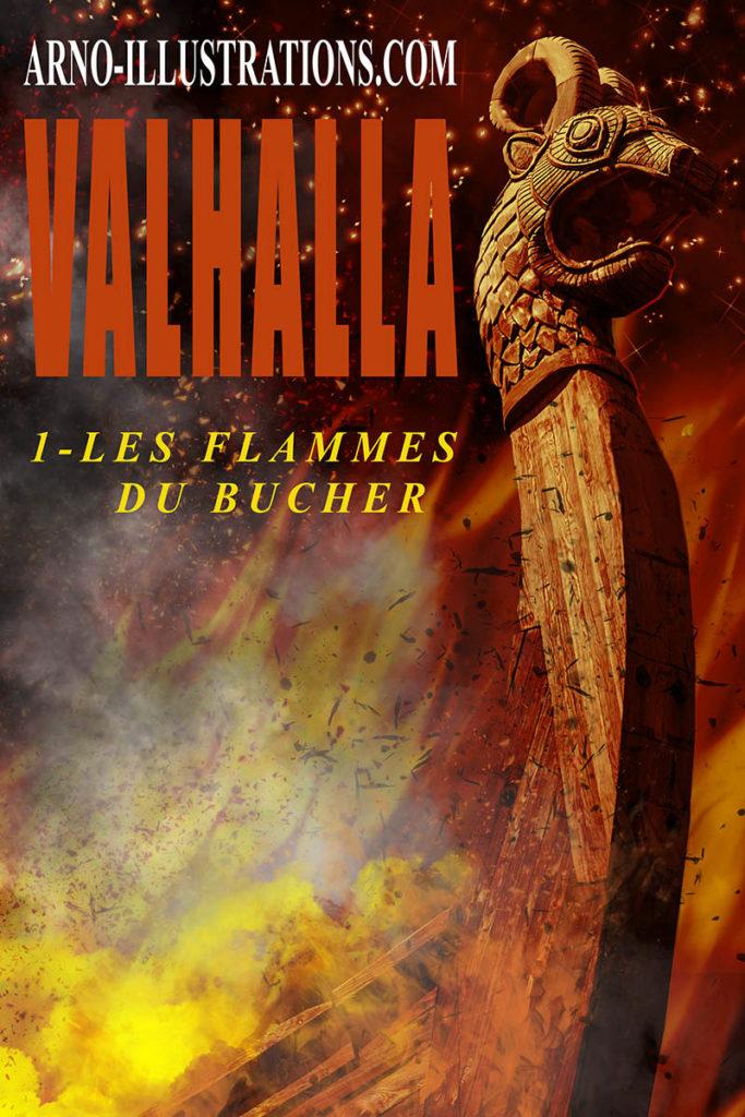 les flammes du bucher-premade-e-book-cover-page-ARNO-ILLUSTRATIONS.COM