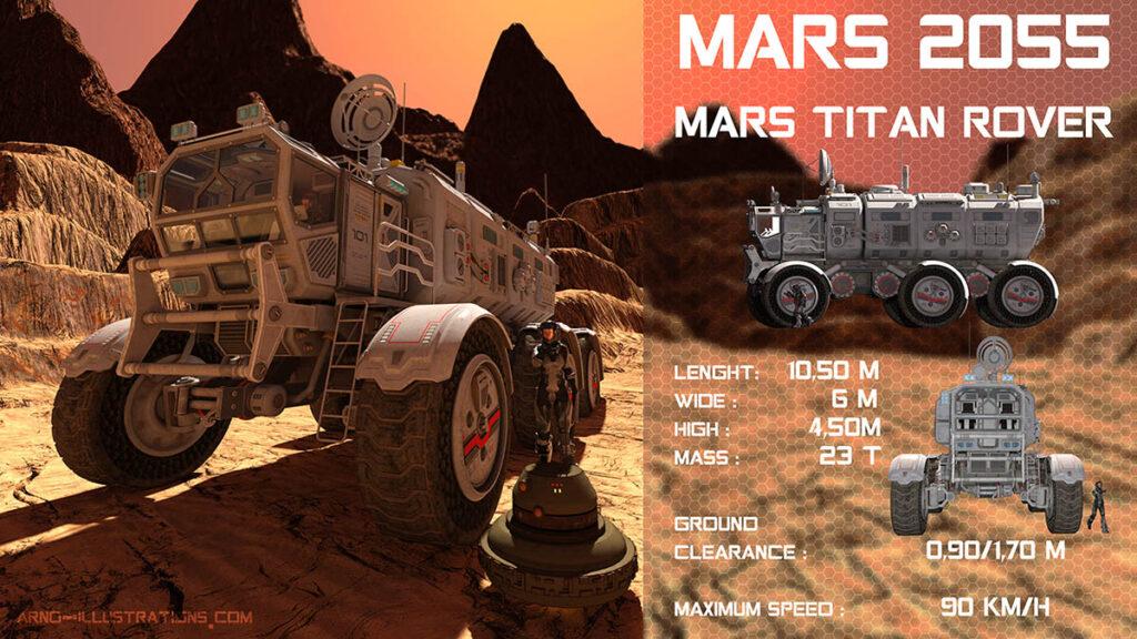 illustration véhicule terrestre martien