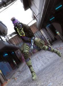 cyberpunk character illustration