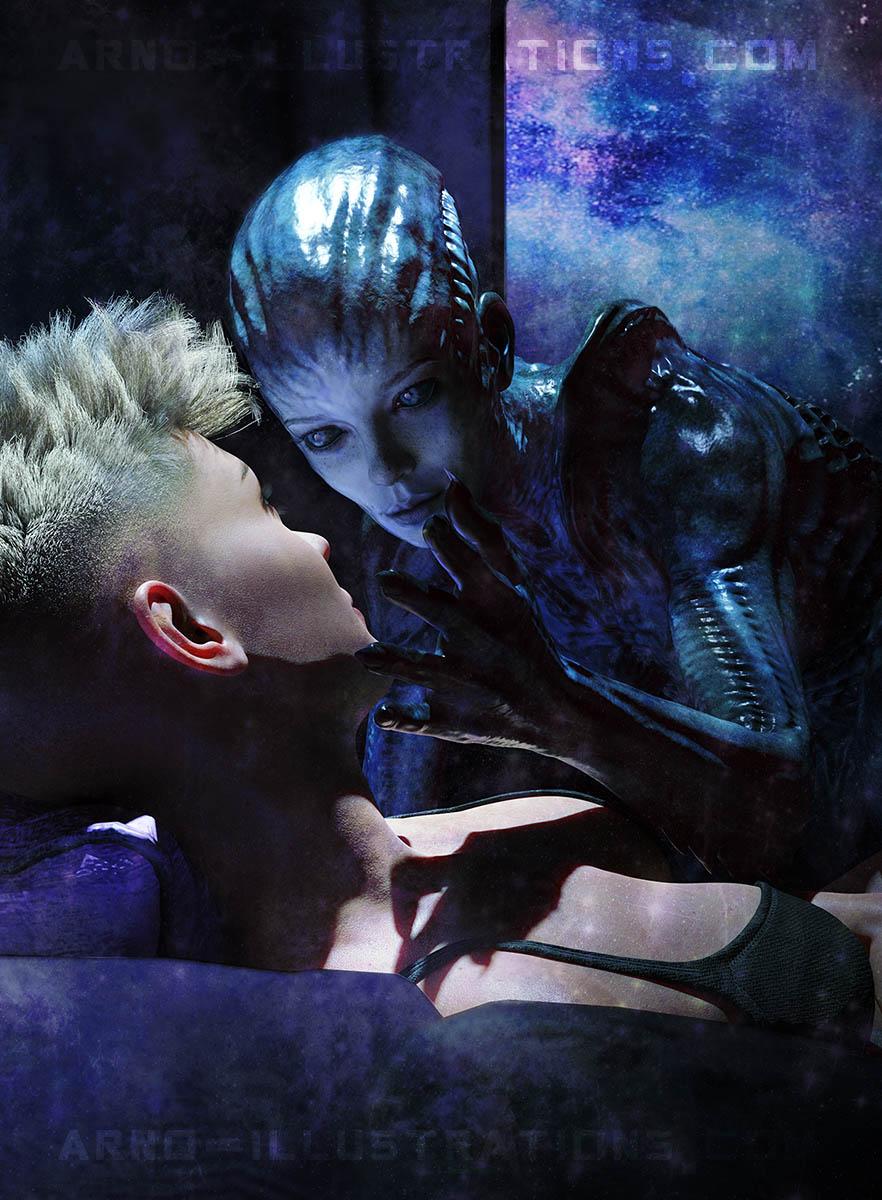alien character illustration