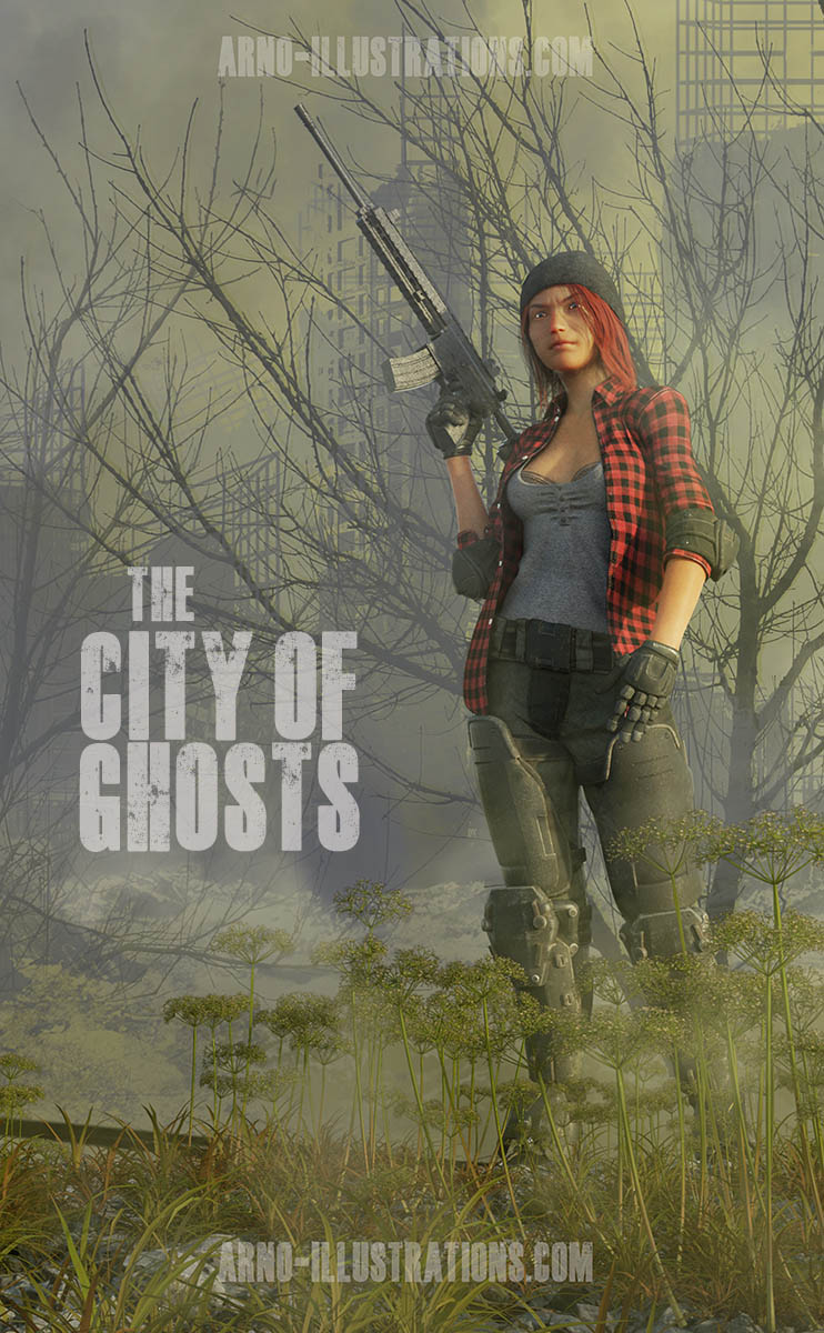 the city of ghosts sci fi apocalyptic illustration