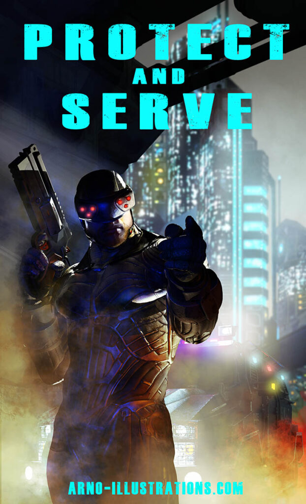 couverture livre science fiction par Arno-illustrations