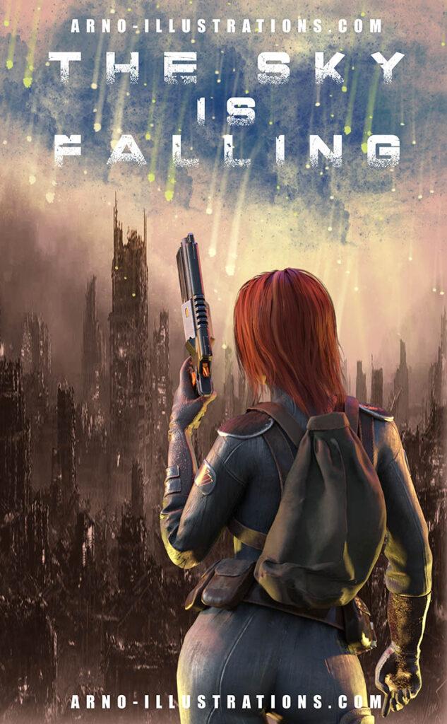 couverture livre science fiction apocalypse ville femme