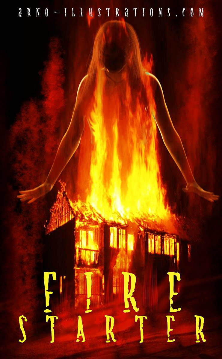 illustration couverture de livre incendie feu