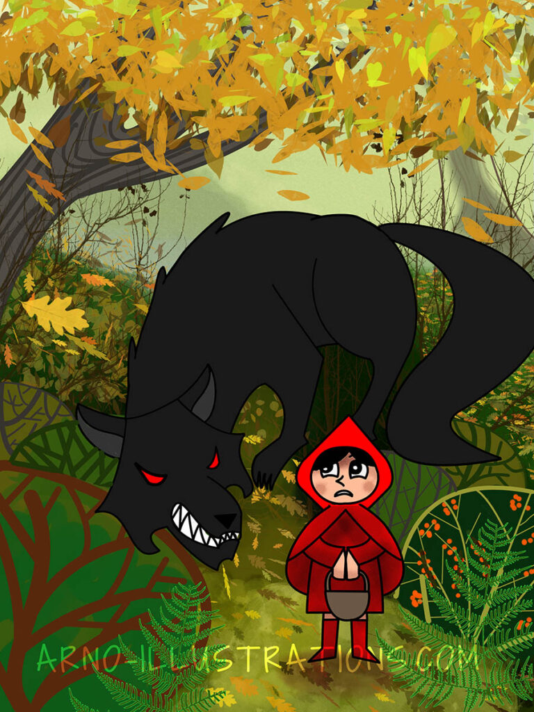 little red hood illustration